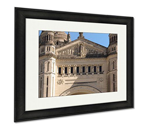 Ashley Framed Prints Basilica Of St Therese Of Lisieux In Normandy France, Wall Art Home Decoration, Color, 34x40 (frame size), Black Frame, AG6544717 by Ashley Framed Prints
