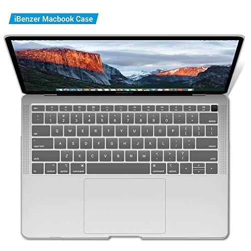 iBenzer MacBook Air 13 Inch Case 2018 Release New Version A1932, Soft Touch Hard Case Shell Cover for Apple MacBook Air 13 Retina with Touch ID, Crystal Clear, MMA-T13CYCL by IBENZER (Image #8)
