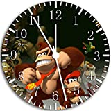 Donkey Kong Frameless Borderless Wall Clock W88 Nice For Gift or Room Wall Decor