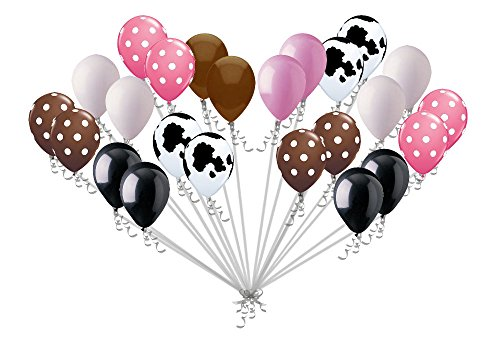 24 pc Cowgirl Inspired Polka Dot Latex Balloon