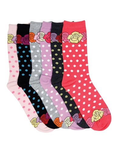 Sakkas Women's Poly Blend Soft and Stretchy Crew Pattern Socks