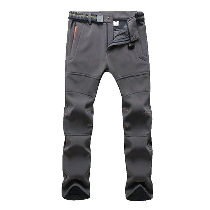 Pantalones de Trekking Hombre Pantalones de Softshell Pantalones Transpirable de Escalada Pantalones Impermeable… eJcsZ6K8r