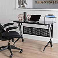 Valyrian Black Tempered Glass Computer Desk