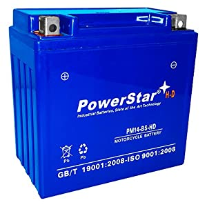 14BS battery - 3 Year Warranty - Highest CCA Available