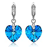 Unique Blue Prom Earrings for Women Fashion Jewelry for Women Dangle Drop Earrings for Girls Anniversary 30th Birthday Gifts for Women Her Wife Mom Sister Grandma New Teens Girls Daughter Best Friend