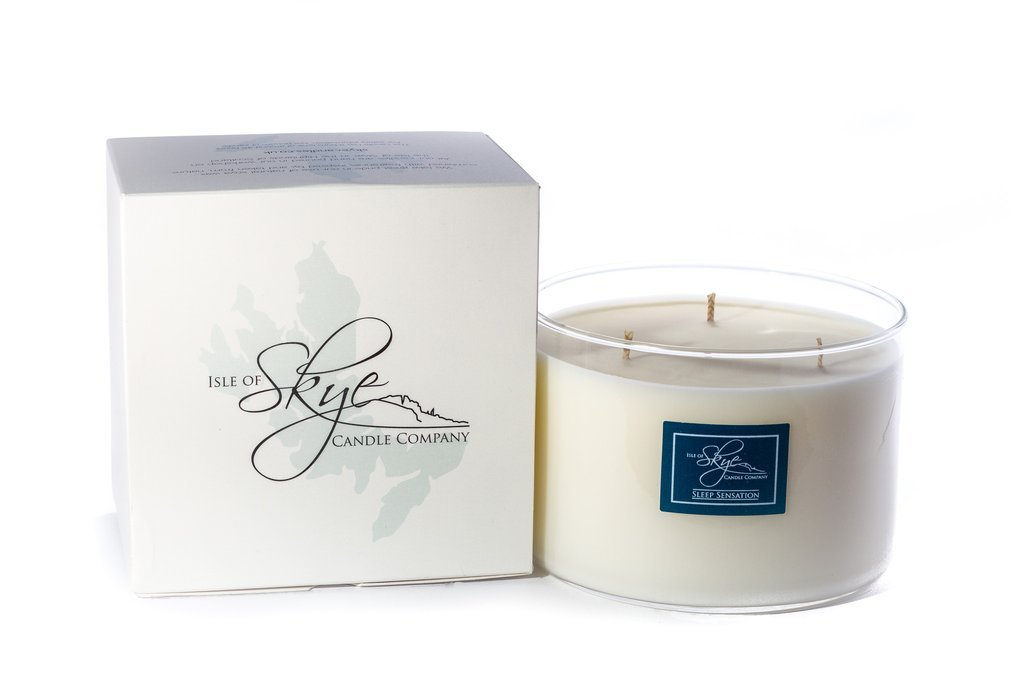 Isle Of Skye Large Sleep Sensations Natural Soya Wax 3 Wick Candle Handmade In Scotland