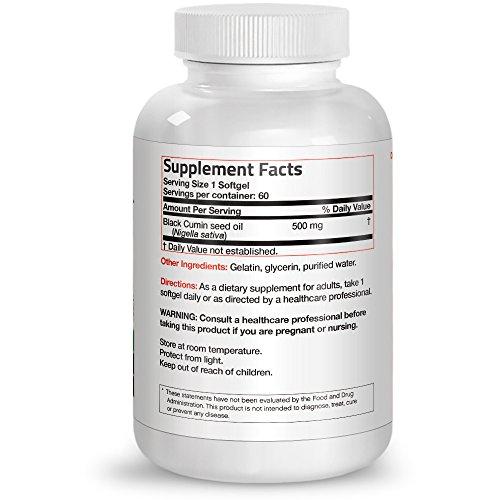 Bronson Black Cumin Seed Oil 500 mg Premium Non-GMO Cold Pressed Formula, 60 Softgels by Bronson (Image #1)