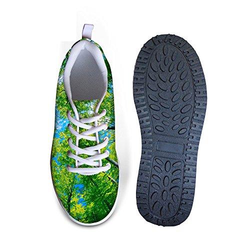 Kramar Idé Mode Blomma Kvinna Mesh Plattform Fitness Sneakers Träd