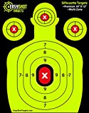 airsoft bullets red - EasyShot SHOOTING TARGETS, High-Contrasting Green & Red Colors Make it Easy to See Your Shots Land, Heavy-Duty Silhouette Paper Sheets - 150 Free Repair Stickers, Close To Wholesale Prices.