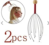 Facial Nerve Made Easy - 2pcs Head Neck Scalp Equipment Stress Relax Massager by SiamsShop