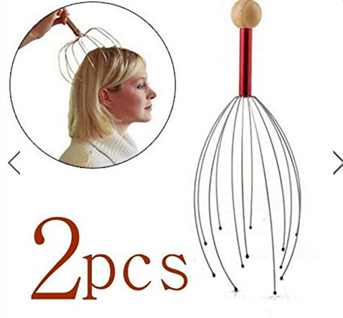 2pcs Head Neck Scalp Equipment Stress Relax Massager by SiamsShop