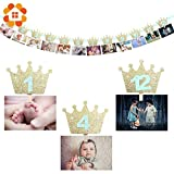 Decor Wedding Birthday Party Decorations Adults 12PCS/Lot 2 Colors Baby Shower Photo Frame Wooden Clip Paper Picture Holder for Wedding Birthday Party Decorations Adult Kid (Random)