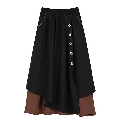 Las Mujeres De Primavera Y Otoño Palabras Poner En Unas Grandes Faldas De Algodón