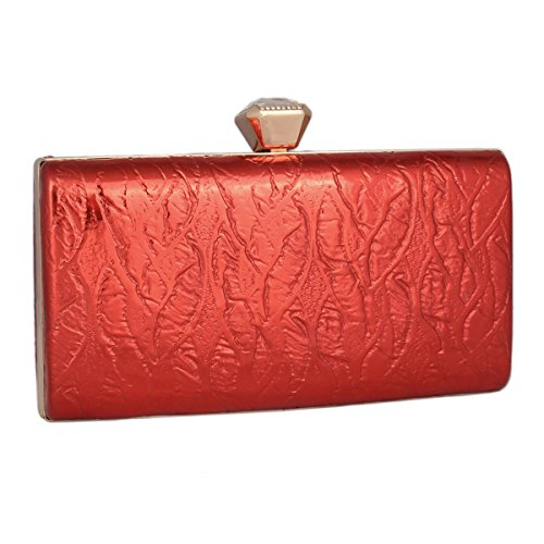 Hardcase Damara Party Women's Dance Minaudiere Bag Elegant Red fEEUwZ