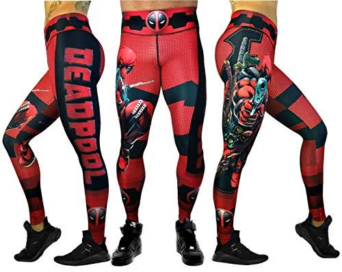 Activewear Superhero Many Styles Leggings Yoga Pants Compression Tights (Deadpool)