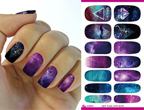 Kompletter Wrap Nail Art Wasser Transfer Aufkleber Sticker K5653 - K5653 Nail Sticker Tattoo - FashionLife