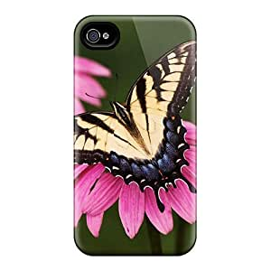 Awesome Tiger Swallowtail Butterfly Purple Coneflower Flip Cases With Fashion Design For Iphone 6plus