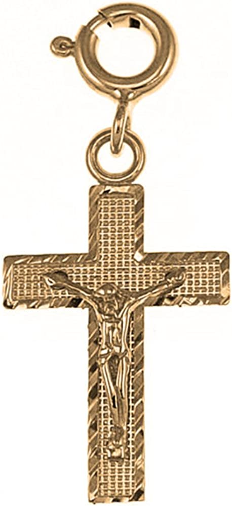 Silver Yellow Plated Latin Cross Pendant 26mm
