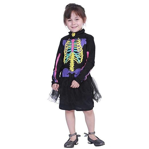 Aediea Disfraz de Halloween, Lindo Vestido de niña Colorido ...