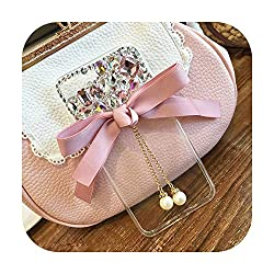 Samsung-Rhinestone Bow Pearl Phone Case Cover-Aluminum
