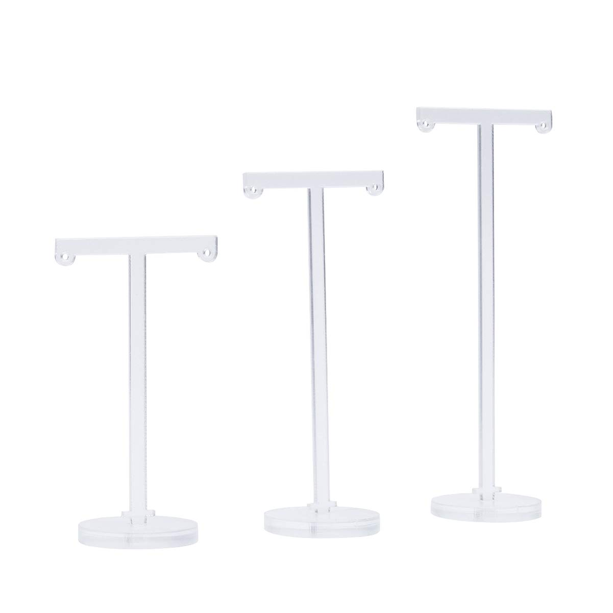 TOPBATHY 3 Pcs Acrylic Earring Tree Jewelry Stand Holder Tower Tree Display