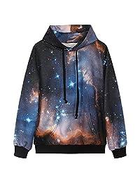 Niyatree Galaxy Stars Hoodie Sweater Long Sleeve Pullover Sweatshirt For Lovers