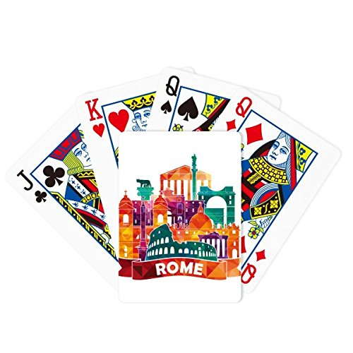 Italy Rome Landscape Customs Landmark Poker Playing Cards Tabletop Game Gift by beatChong