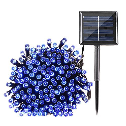 Blue Solar Christmas Lights Outdoor in US - 9