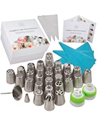 Deluxe Russian Piping Tips 76 Piece Set Complete Kit for Cake Decorating