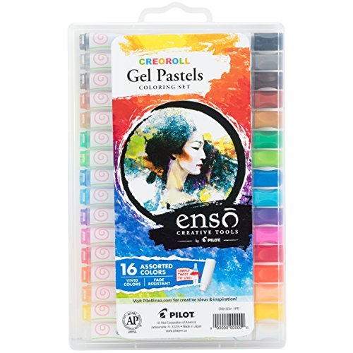 (Pilot Enso Creoroll Gel Pastel Set, Assorted Colors, Pack of 16; A New Twist on Pastels for Whatever Expression Your Muse Happens To Inspire (17000))