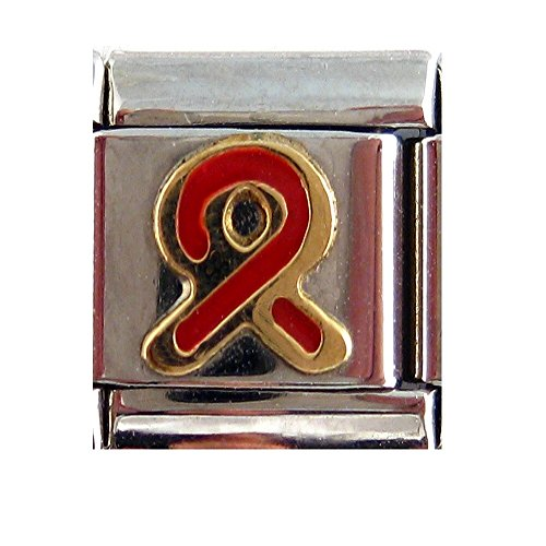 A-Ha - Red (AIDs) Awareness Ribbon Italian Charm Awareness Ribbon Enamel Italian Charm