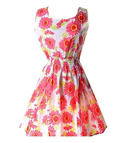 Sun Sleeveless Club Coolred Dress Women Party Printed Plus Mulit Size 12 Color TYFqA4