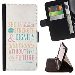 - Quote Motivational God Religion Christian - - Prima caja de la PU billetera de cuero con ranuras para tarjetas, efectivo desmontable correa para l Funny HouseFOR LG G3