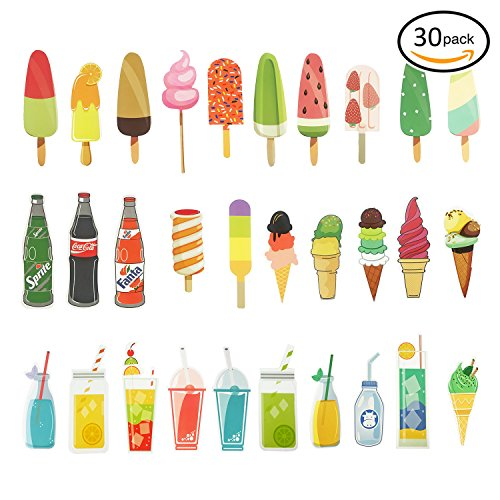 Tonnier Hand-painted Style Design Bookmarks 30pcs SWeet