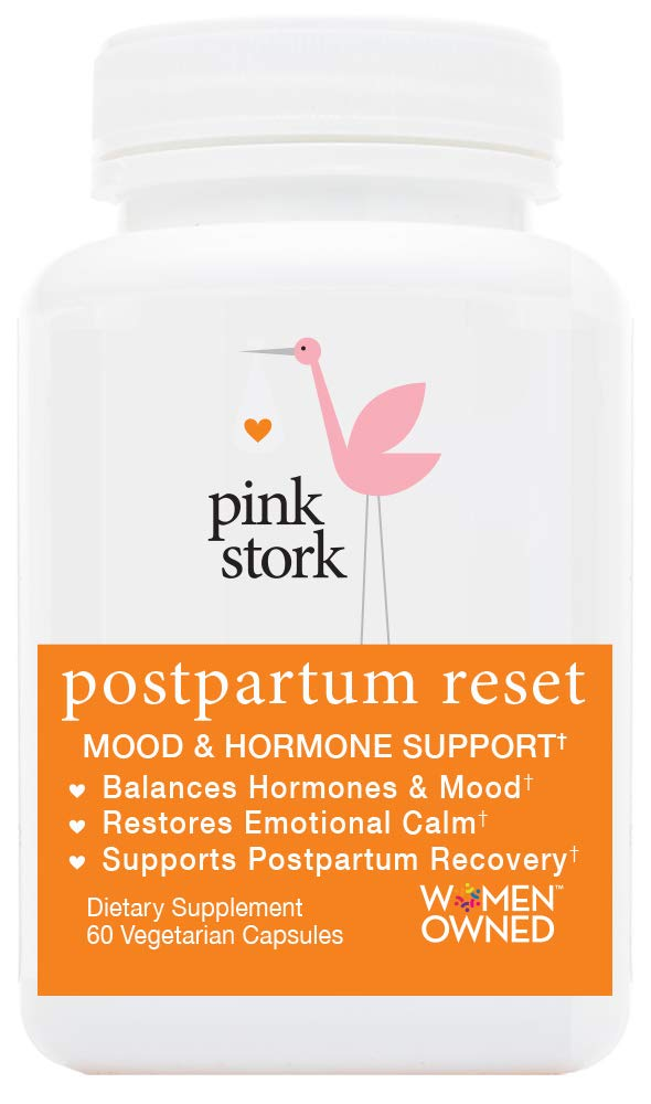 Pink Stork Postpartum Reset: Mood & Hormone Support; Naturally Balance Hormones & Support Postpartum Recovery in 4th Trimester, Support Breastfeeding Goals