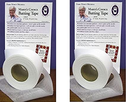 2 inches Wide by 30 Yards Long Marti/'s Choice Non-Woven Fusible Batting Tape Marti Michell 3 Pack one roll per Package