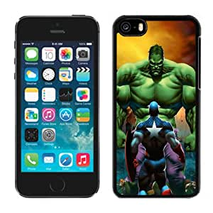 New Personalized Custom Designed For iPhone 5C Phone Case For Captain America VS. The Hulk Phone Case Cover