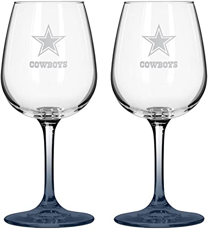 Amazon.com: NFL Dallas Cowboys boelter Vino vidrio (2-Pack ...
