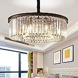 Cheap Meelighting Crystal Chandeliers Modern Contemporary Ceiling Lights Fixtures Pendant Lighting Dining Room Living Room Chandelier D21.6 H7.1