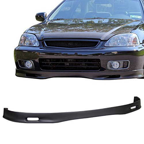 TC Sportline BO-HOCI991521 Type-SP Polyurethane PU Front Bumper Lip Spoiler for 1999-2000 HONDA CIVIC SEDAN COUPE HATCHBACK
