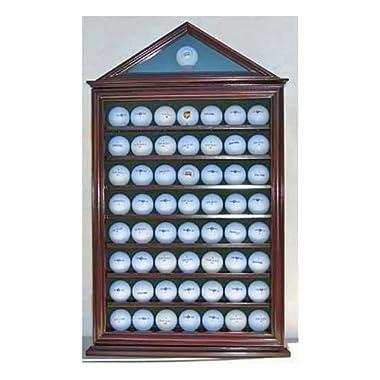 57 Golf Ball Display Case Shadow Box Wall Cabinet Holder Rack w/ 98% UV Protection
