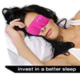 Bags Under Eyes Home Remedies DREAM MAKER Sleep Mask ( Ultra Soft PINK Sleeping Mask - Anti-Aging ) Eye Mask comfortable and Contoured Eyemask Silk Blindfold with Ear Plugs Travel Pouch Best Eyeshade - Men Women Kids Girls