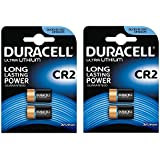 4 X Duracell Ultra Photo DLCR2 3 V Lithium Batteries - 2 Packs of 2