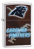 Zippo Pocket Lighter NFL Carolina Panthers Brushed Chrome Pocket Lighter