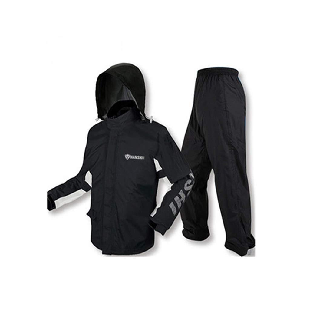 Rainsuit- Raincoat Rain Pants Suit Adult Split Raincoat Motorcycle Riding Raincoat Waterproof Thin Men and Women (Size : M)