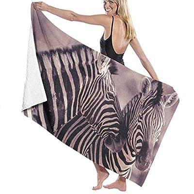"Hallome Sports Towel Swimming Towel Wild African Safari Striped Zebra Print Microfiber Travel Towel Camping Towel Gym Towel 31""X51"""