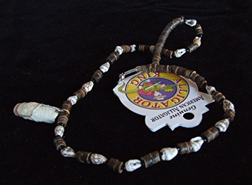 Alligator Tooth and Shell Necklace 26 Gator Special Edition Bayou