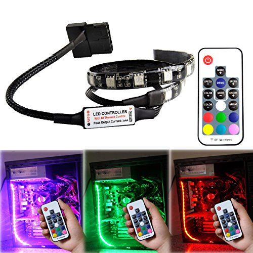 Lifetime Pc Case - RGB LED Light Strip for Computer Case Decoration with Magnetic and Remote Controller