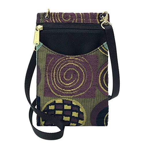 Danny K Women's Tapestry Crossbody Cell Phone or Passport Purse, Handmade in USA -