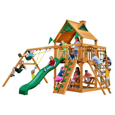 Gorilla Playsets Swing Set with Safe Entry Ladder